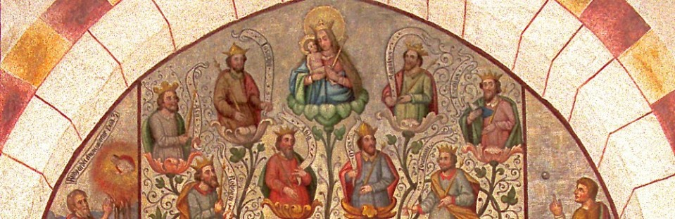 Tree Of Jesse, fresco in the cathedral at Limburg.