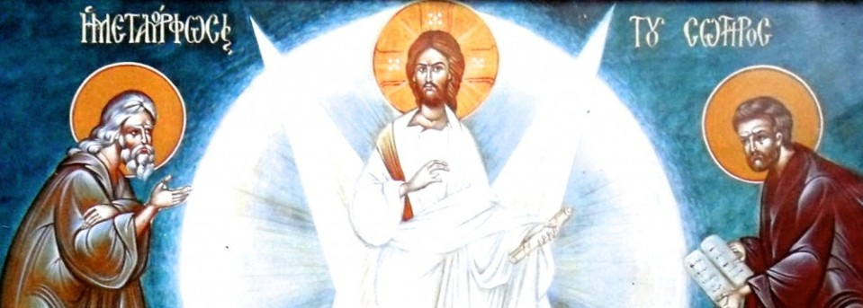 Christ shining at his transfiguration.